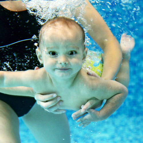 Swimming Pool Safety Baby Takeing Swimming Lessons