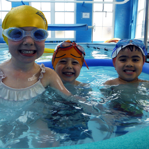 Swimming Pool Safety Children Takeing Swimming Lessons