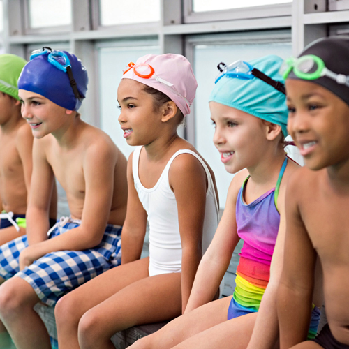 Swimming Pool Safety Kids Takeing Swimming Lessons